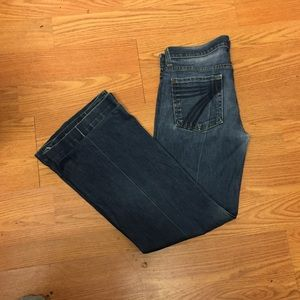 7 for all mankind dojo size 29 blue check pictures